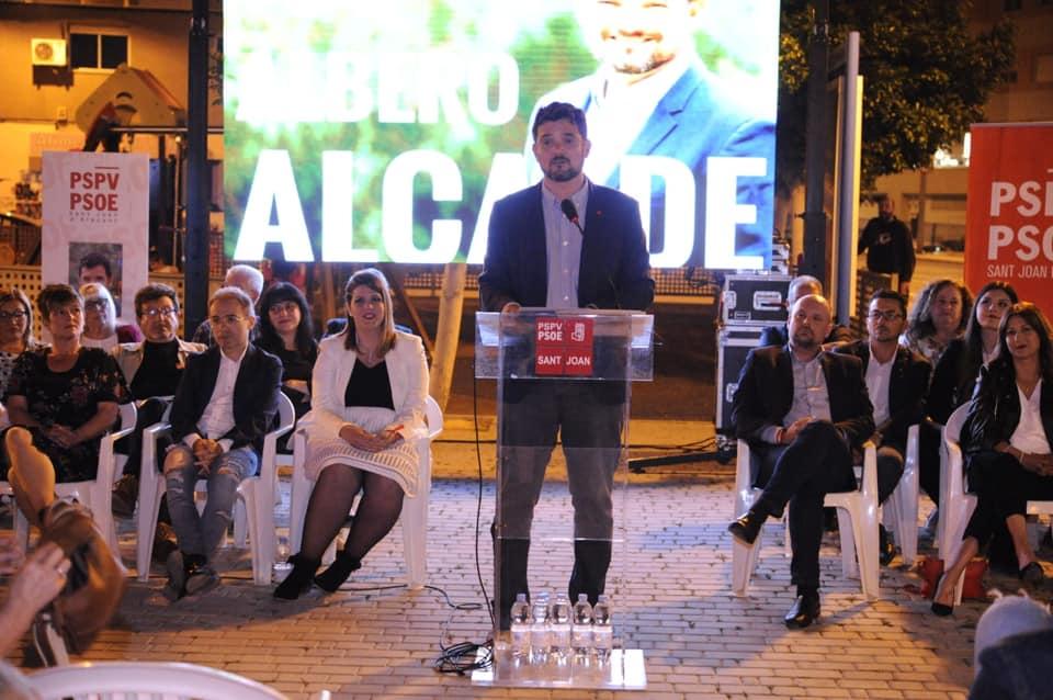 Presentación candidatura pspv-psoe sant joan d'alacant