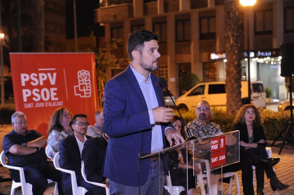 Presentación candidatura pspv-psoe sant joan d'alacant 2